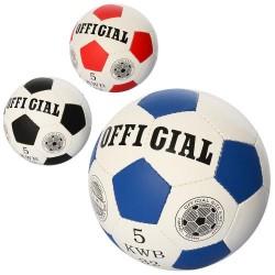 Мяч футбольный OFFICIAL 2500-202 размер5,ПУ,1,4мм,32панели,ручн.работа,350-360г,3цв,в кульке