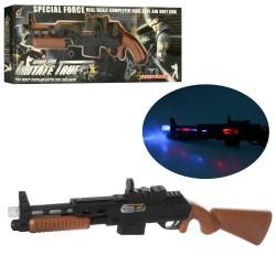 Ружье 801A-2 56см, звук, свет, вибро, на бат-ке, в кор-ке, 61,5-20-4,5см
