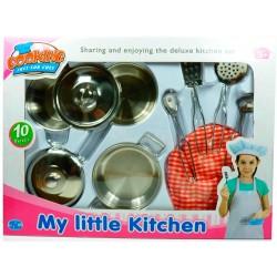 Кулінарні набори. Дитячий нержавіючий кулінарний набір. 10 предметів