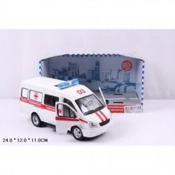 Автобус PLAY SMART 9098-C скорая инерц.муз.свет.откр.дв.кор.24*11*12