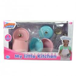 Кулінарні набори. Дитячий нержавіючий кулінарний набір. 9 предметів
