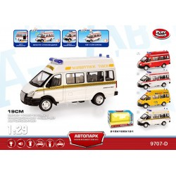 "Автобус PLAY SMART 9707-D ""Автопарк"" маршрутка инерц.муз.свет.кор.21,5*10,5*12,1 ш.к."