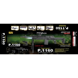 Автомат CYMA P.1160 с пульками.лазер.свет.прицел.кор.86*21,5*9