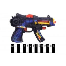 Пистолет на батар.звук 213 р.в пакете 19х15х4 см.