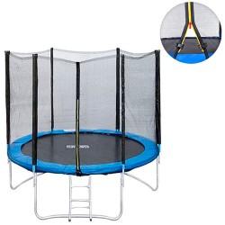 Батут MS 0496 диаметр 244см,с сеткой-высота150см,на пружин48шт,ножк8шт,лестниц,кор,130-44-25см