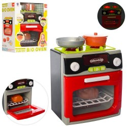 Бытовая техника XS-14067 плита, 19,5см, посуда, продукты,зв,св, на бат-ке,в кор-ке,22-25-12см