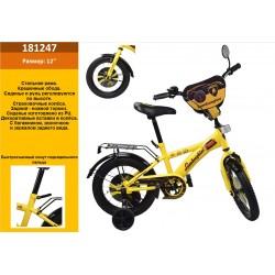 "Велосипед 2-х колес 12"" 181247 со звонком, зеркалом,без ручного тормоза"