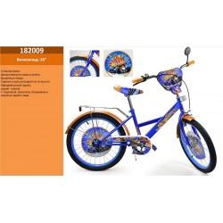 Велосипед 2-х колес 20'' 182009 со звонком,зеркалом,руч.тормоз,без доп.колес
