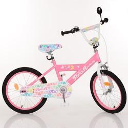Велосипед детский PROF1 20д. L20131 Butterfly 2,розовый, звонок,подножка