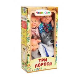 """Домашний кукольный театр """"ТРИ ПОРОСЕНКА"""" (4 персонажа)"""