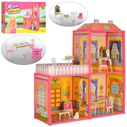 Домик 6984 для куклы, 63-51,5-70см, фигурка, 2 этажа, в кор-ке, 60-34-7,5см