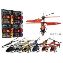 Вертолет на р.у. 33008 гироскоп, аккум, 3-х канальный пульт ДУ, мет+пластик, в кор-ке, 28-14-10см