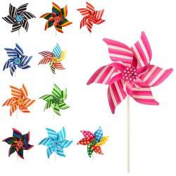 Ветрячок M 3725  размер средний,10шт в упаковке ,пласт,цветок,микс видов,