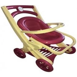 Візок для ляльок з шезлонгом,( сидячая,бежево-розовая)