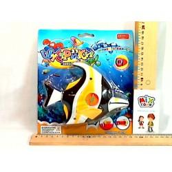 Водоплавающая игра ZYK 031B-4 рыбка, на листе, 21-19-7см