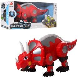 Динозавр 28305 (35см, ходит, муз, звук, свет, 2 цвета, на бат-ке, в кор-ке, 36-15-18см