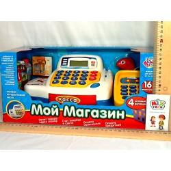 Кассовый аппарат 7020 (4 игровые функции, 16 аксессуаров, калькулятор, звук, свет, на бат-к