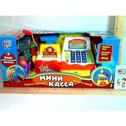 Кассовый аппарат 7162 микрофон, калькулятор, весы, на бат-ке, в кор-ке, 43-19-19см
