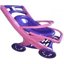 Візок для ляльок з шезлонгом,(сидячая.розово-фиолетовая)