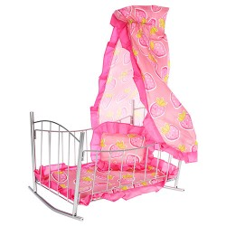 Кроватка MELOGO 9349 (HT) для кукол с балдахином 46*75*26