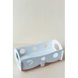 Кроватка для кукол Белая (размер 480*250*230)