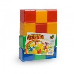 Кубики цветные 12 шт.