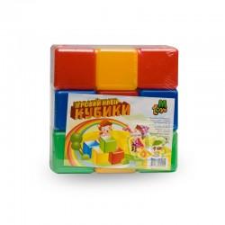 Кубики цветные 9 шт.