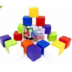 Кубики 20шт, 6*6*6см, в сетке