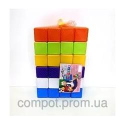 Кубики 48шт, 6*6*6см, в сетке
