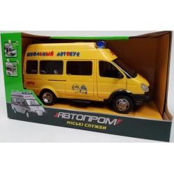 """Машина батар. 7809  свет,звук ,откр.двери """"Автопром"""" городские службы, в коробке 21,5*10,5*12"""