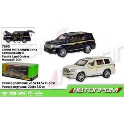 "Машина метал 7690 (""АВТОПРОМ""1:24 Toyota, батар,свет,звук,двери откр.,в кор.28,5*14,5*11,5см"