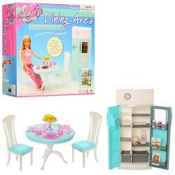 Мебель 2812 кухня, стол, стул 2шт, холодильник, посуда, в кор-ке, 26-24-25см