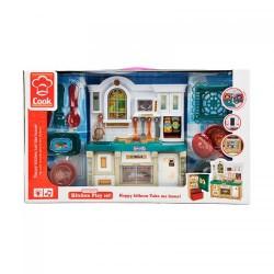Мебель 3020-1 кухня, 27см, звук, свет, посуда, на бат-ке, в кор-ке, 49,5-29-10,5см