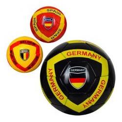 Мяч футбольный EV 3285 размер5, ПВХ, 300-320г, 3вида, страны, в кульке,