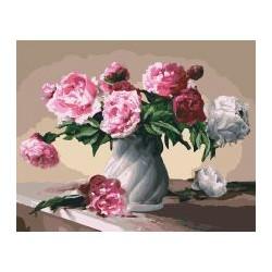 """Набір для розпису по номерах. Букети """"Квіти любові"""" 40*50см КНО3001"""