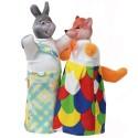 """Набір ляльок-рукавиць """"ЛИСИЦЯ І ЗАЄЦЬ"""" (2 персонажі)"""