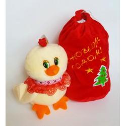 Петушок с мешком для подарка