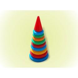 Пирамидка №2 (34см) 9 колец