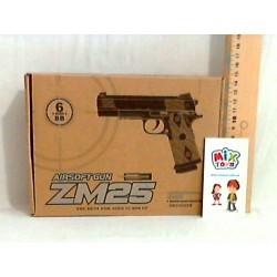 Пистолет с пульками  ZM25  метал.кор.ш.к.JH120316102B(JH130221101B)