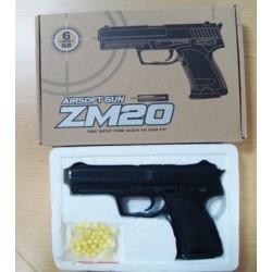 Пистолет с пульками ZM20 метал.кор.ш.к.