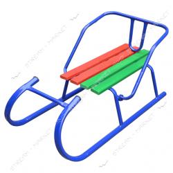 Санки Баран синего цвета труба без толкателя