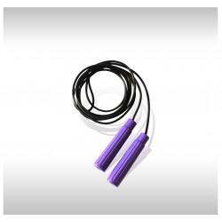 Скакалка резиновая черная 2,4 м.