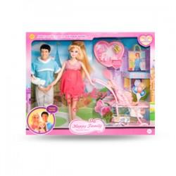 Кукла DEFA 8088  беременная, KEN, коляска с ребёнком, аксессуары, в к