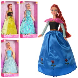 Кукла DEFA 8326 3 цвета, в кор-ке, 32,5-11-5,5см