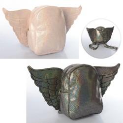 Рюкзак MK 3472 размер средний, 22,5-18-9,5см, крылья,застеж-молн,,1внутр/2наруж.карм,в кульке