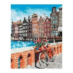 """Набір для розпису по номерах. """"Канікули у Амстердамі"""" 40*50см."""