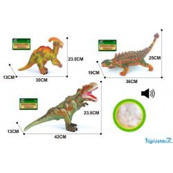 Динозавр музыкальный большой Q 9899-505 А мягкий, резиновый, 43 см, 3 вида,
