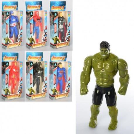 Супергерой 1581-81C (16см, свет, 7видов (AV,BM,СП,СМ), бат(таб), в кор-ке, 20-9-3,5см