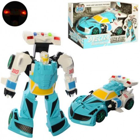 Трансформер D622-H046 ( 20см, робот+машинка, звук, свет,на бат(табл),в кор-ке, 24-13-11,5см