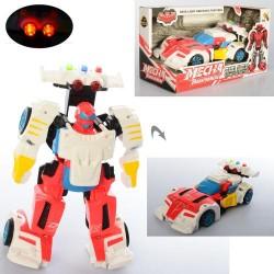 Трансформер D622-H047 (18,5см, робот+машинка, звук, свет,на бат(табл),в кор-ке, 24-13-11,5см